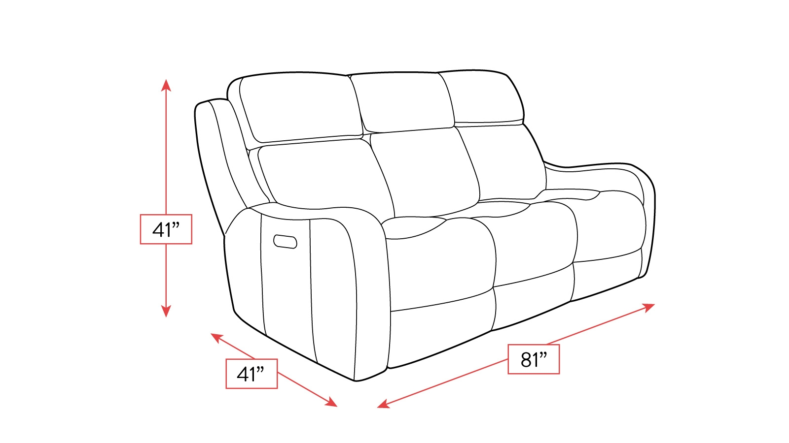 Alamo Power Reclining Sofa W/Power Headrest, , hi-res