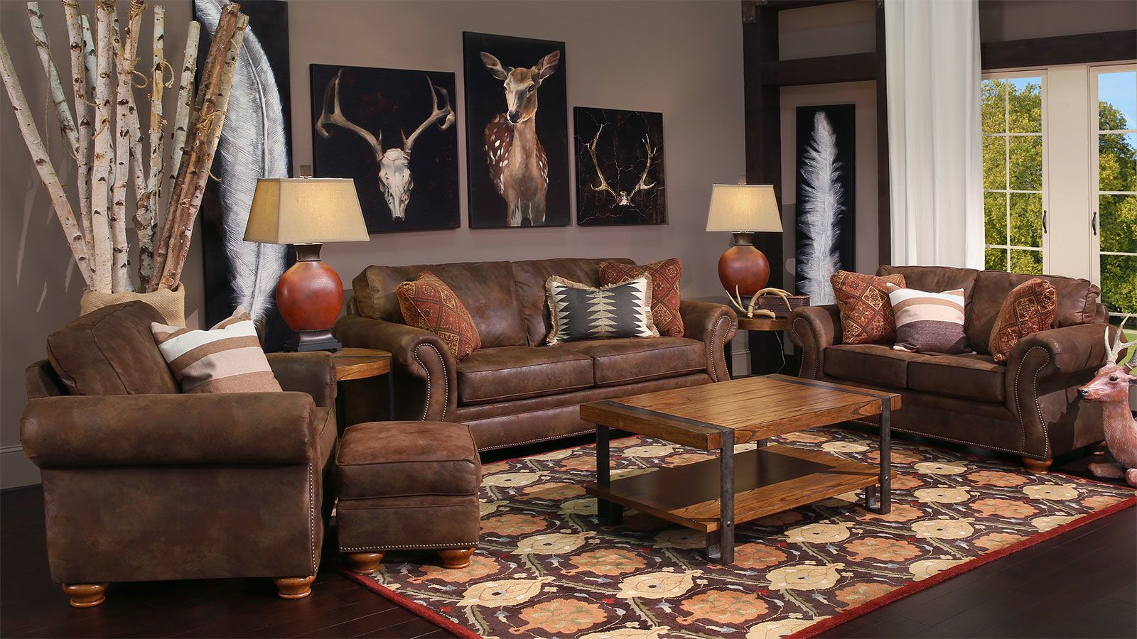 Texas Brown Living Room Group, , large
