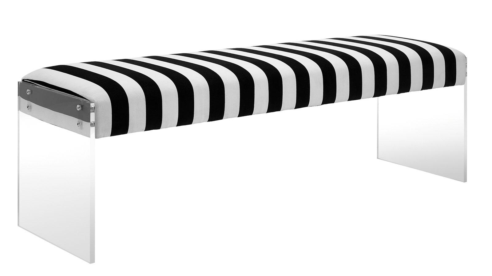 Envy Paris Velvet/Acrylic Bench, , hi-res