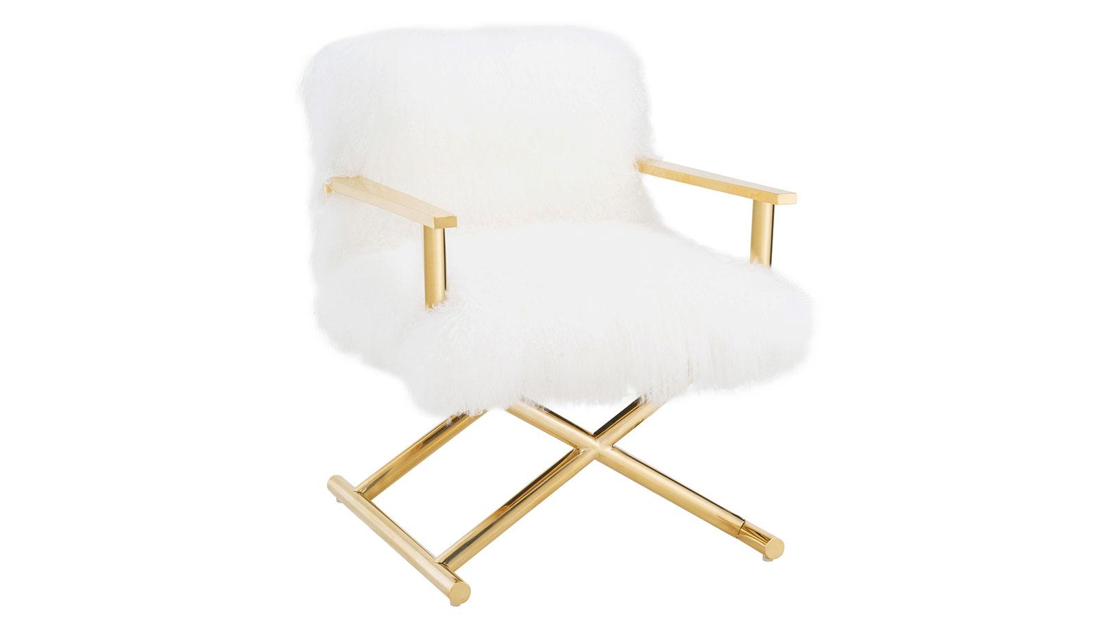 Jodi White Sheepskin Chair, , hi-res