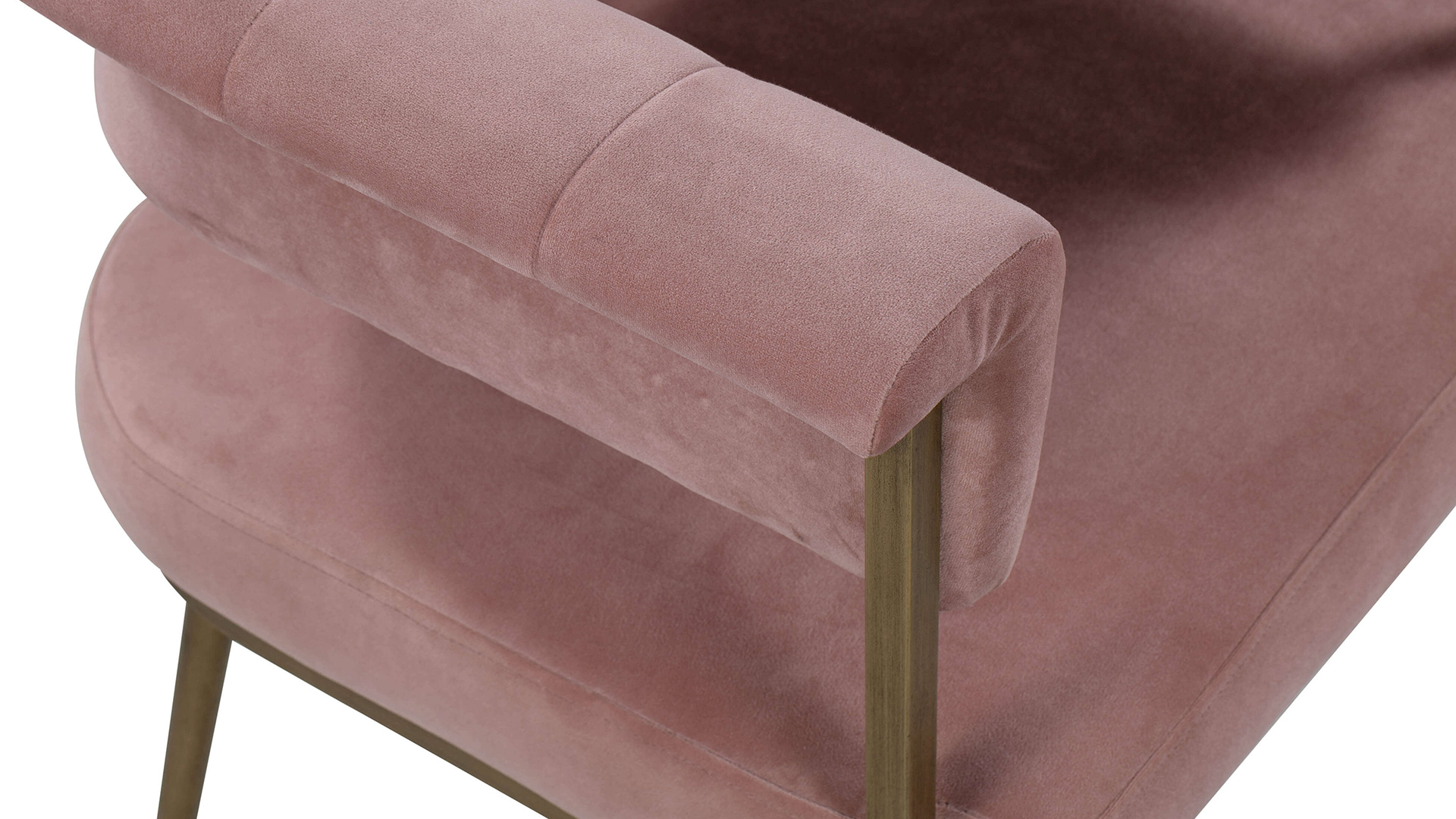 Astrid Blush Velvet Chair, , hi-res