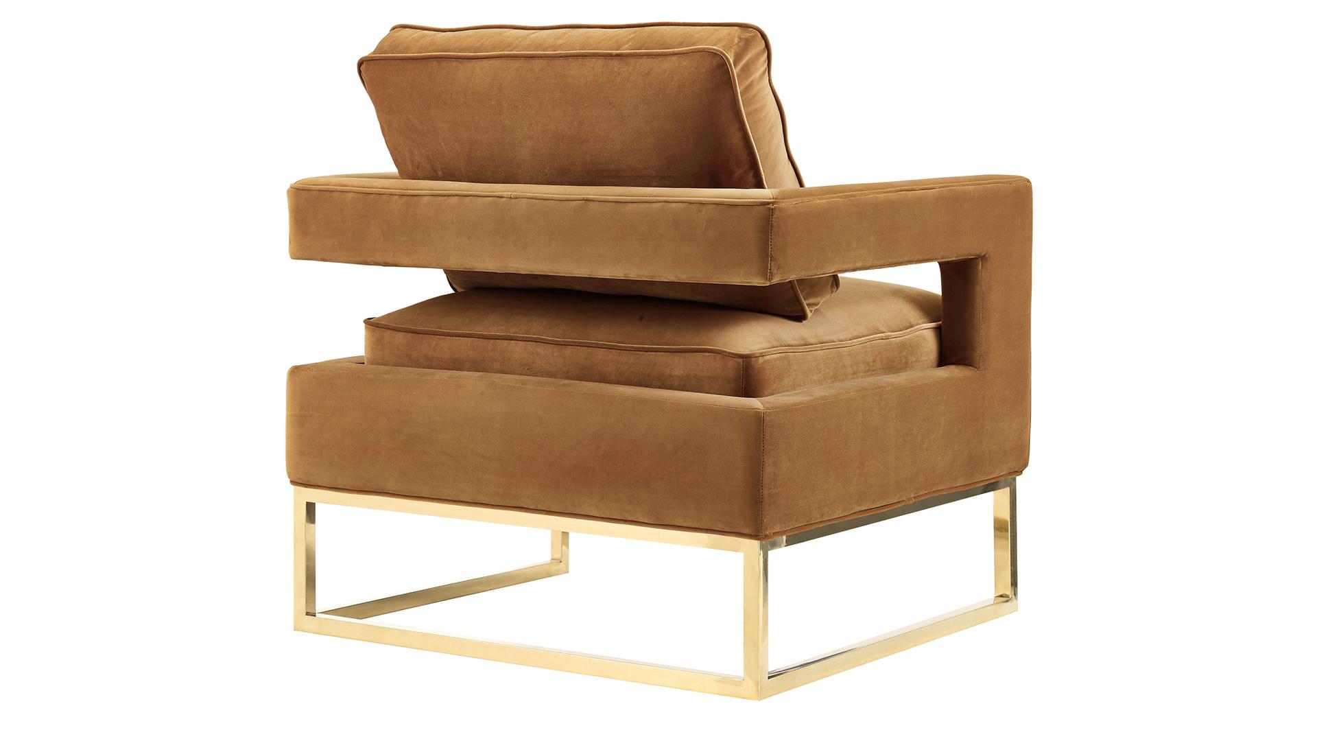 Avery Cognac Velvet Chair, , hi-res
