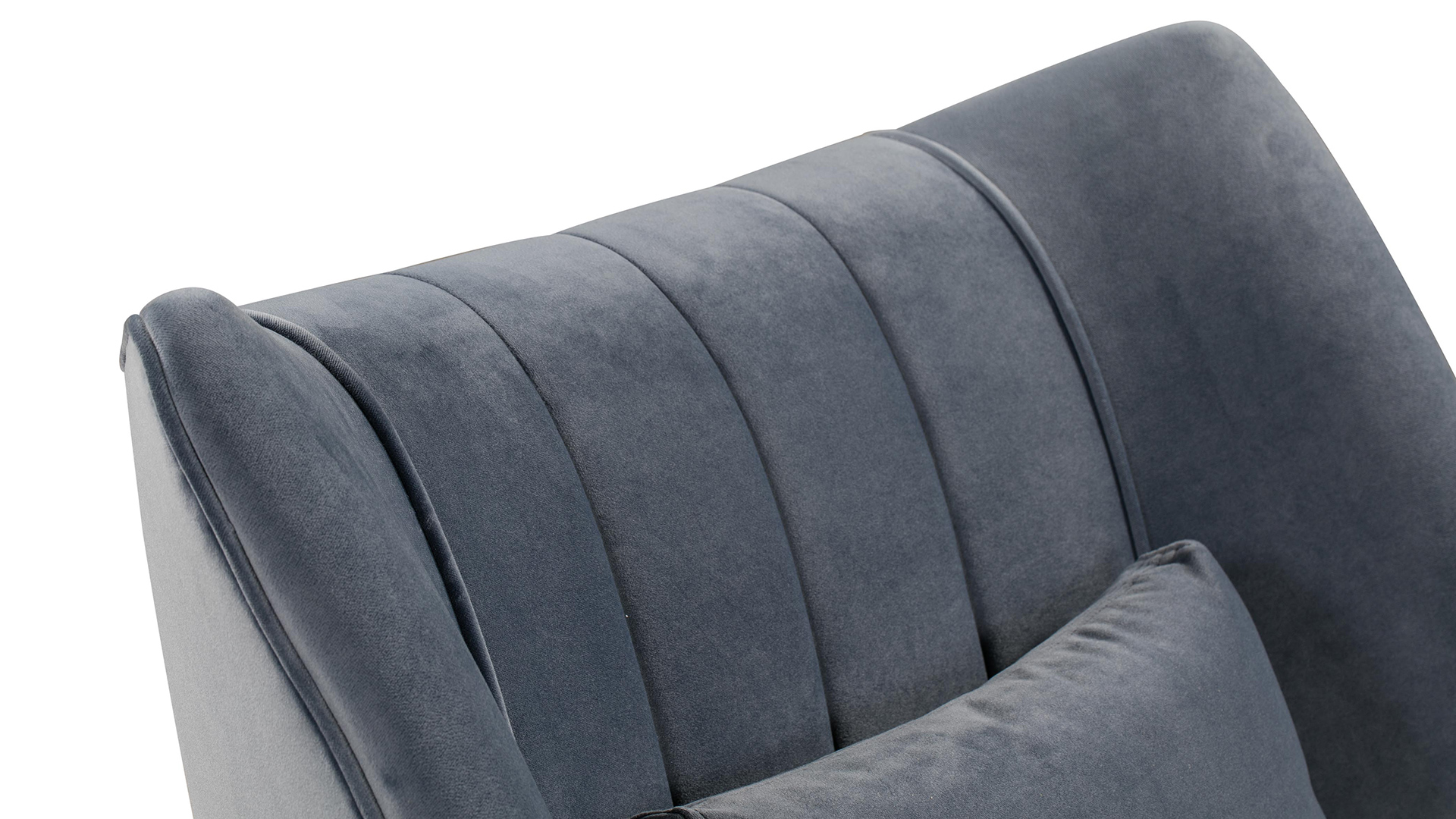 Reiko Cascadia Blue Lounge Chair, , hi-res