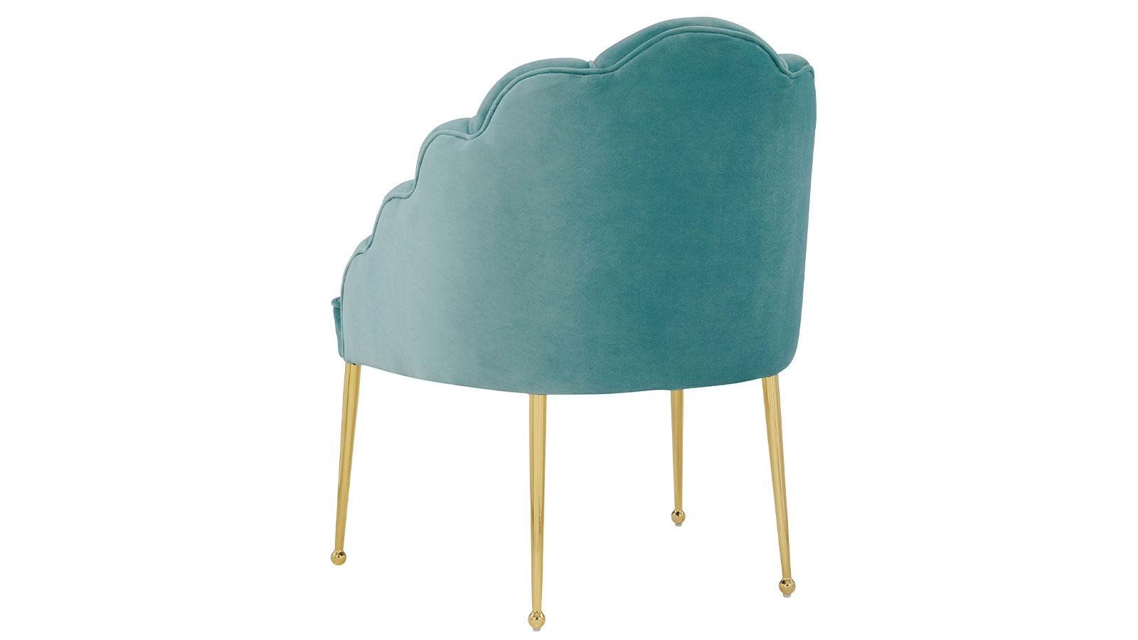 Daisy Petite Sea Blue Velvet Chair, , hi-res