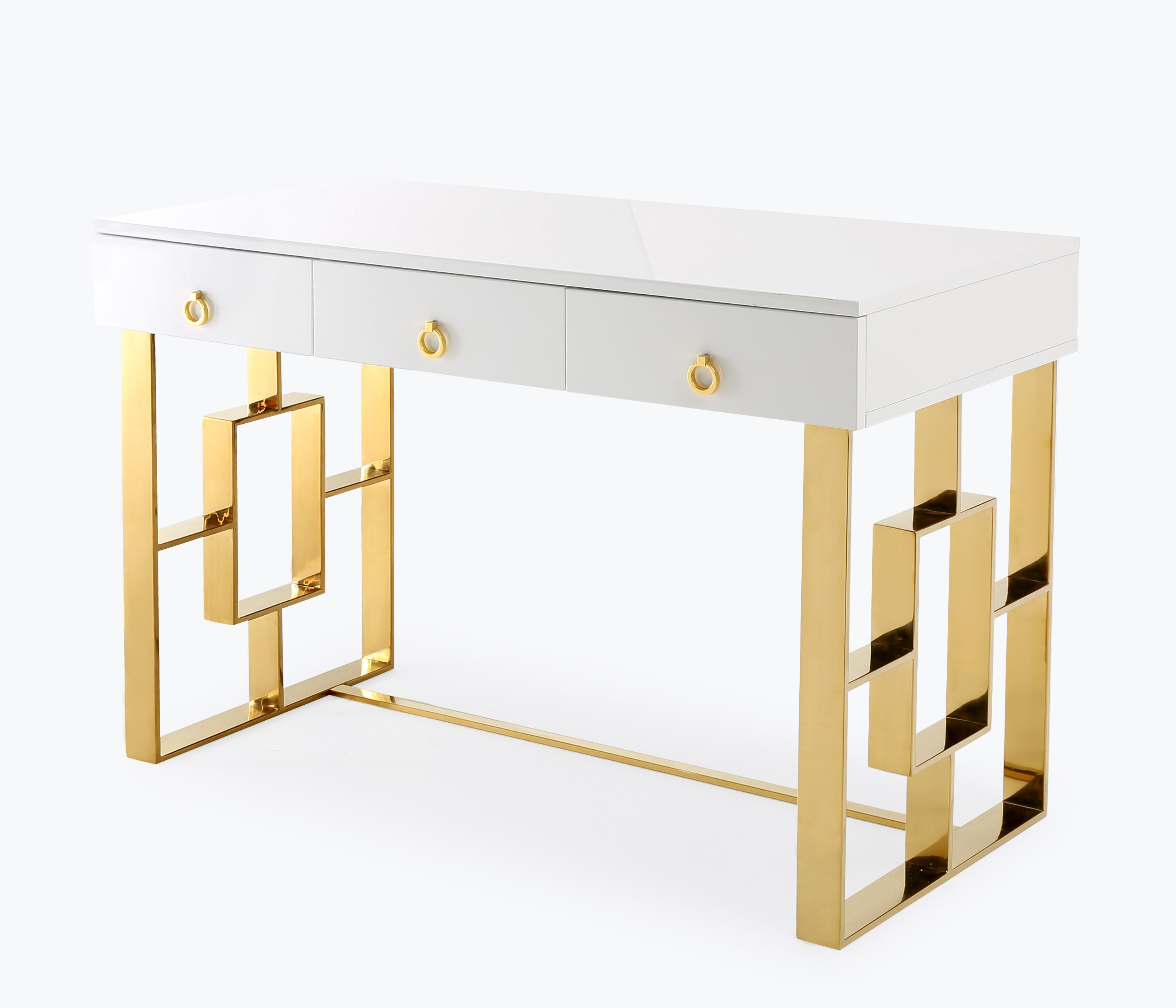 Audrey White Lacquer Desk, , hi-res