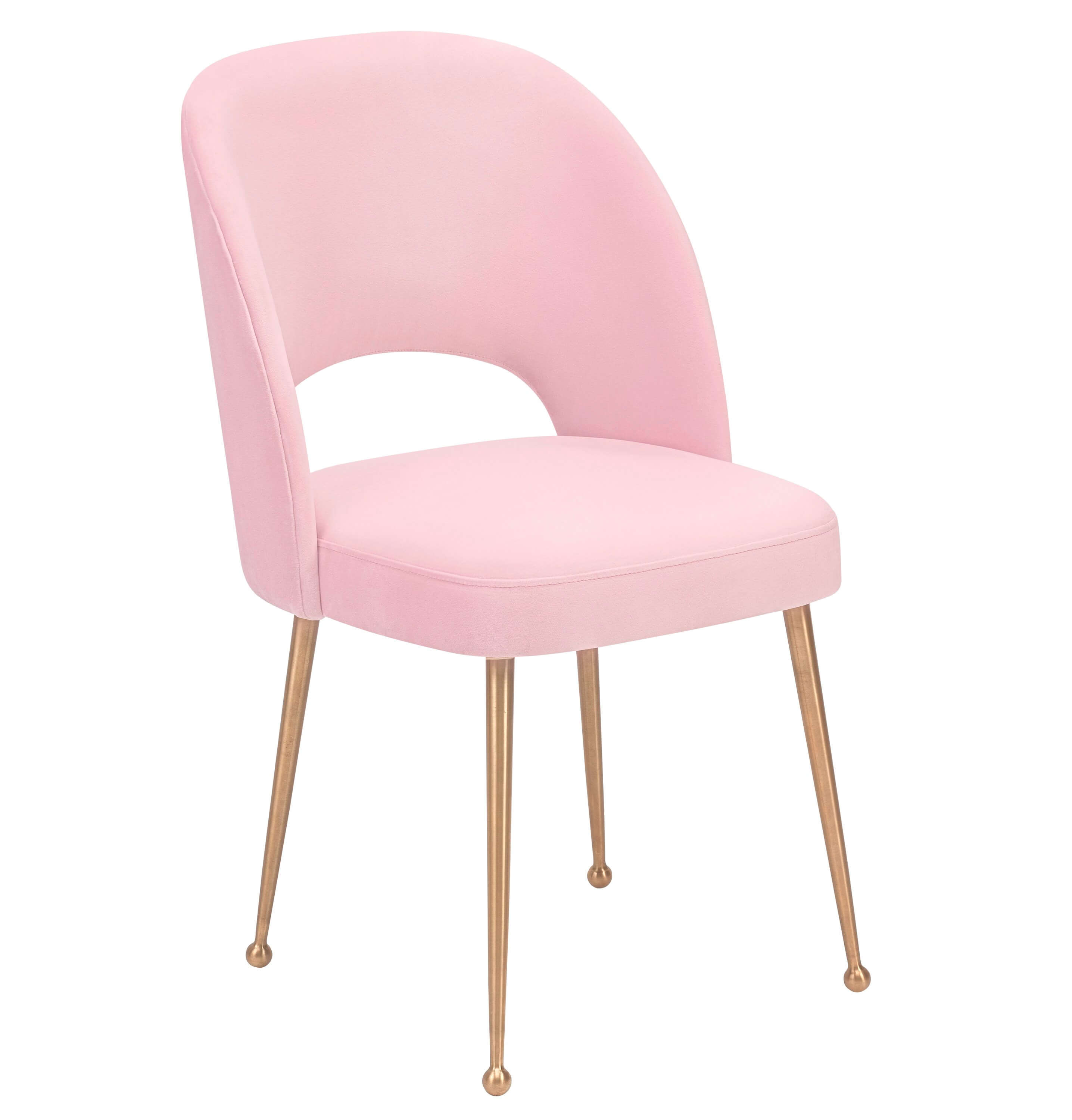 Swell Blush Velvet Chair, , hi-res