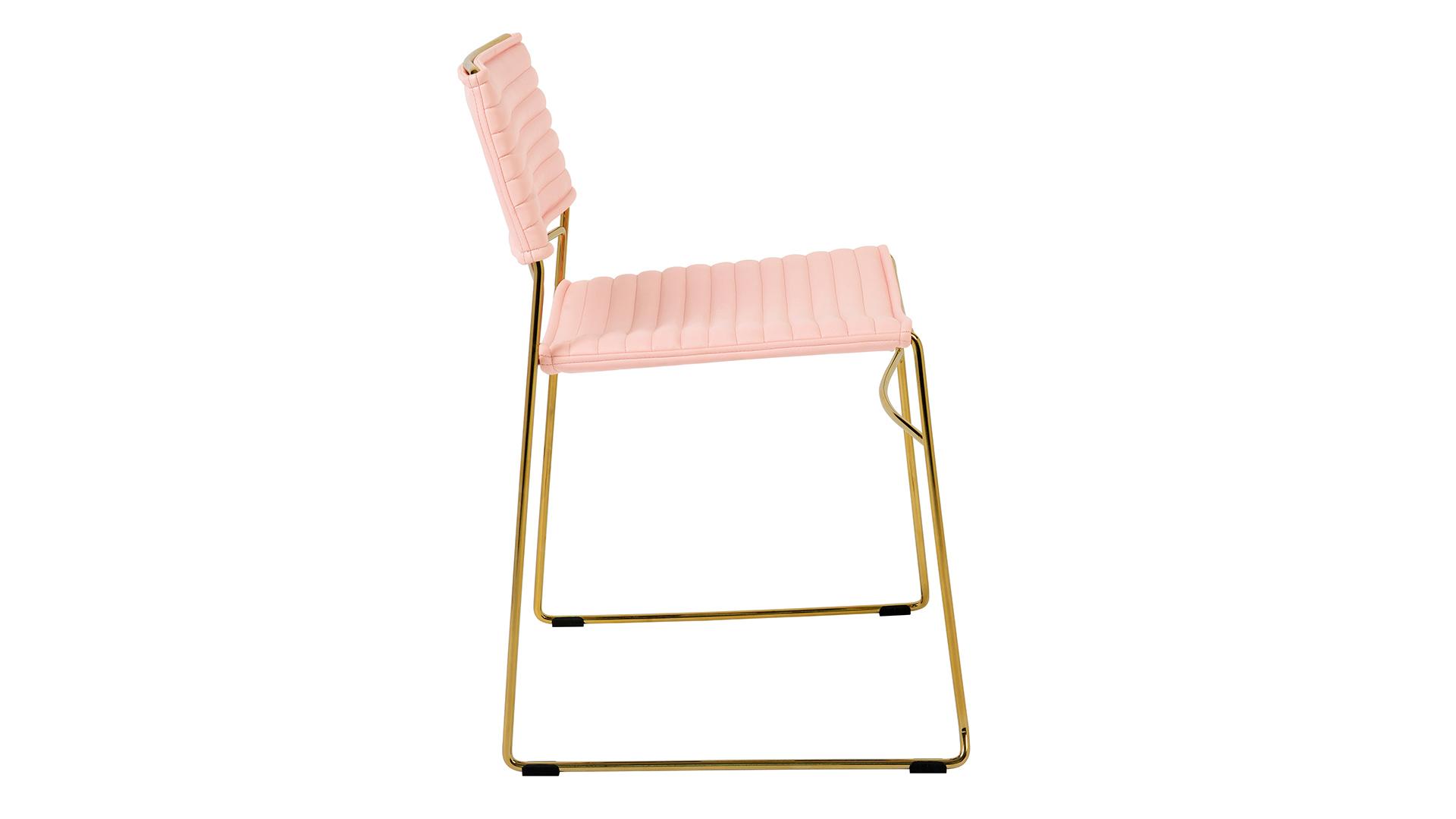 Domani Blush Vegan Leather Chair (Set of 2), , hi-res