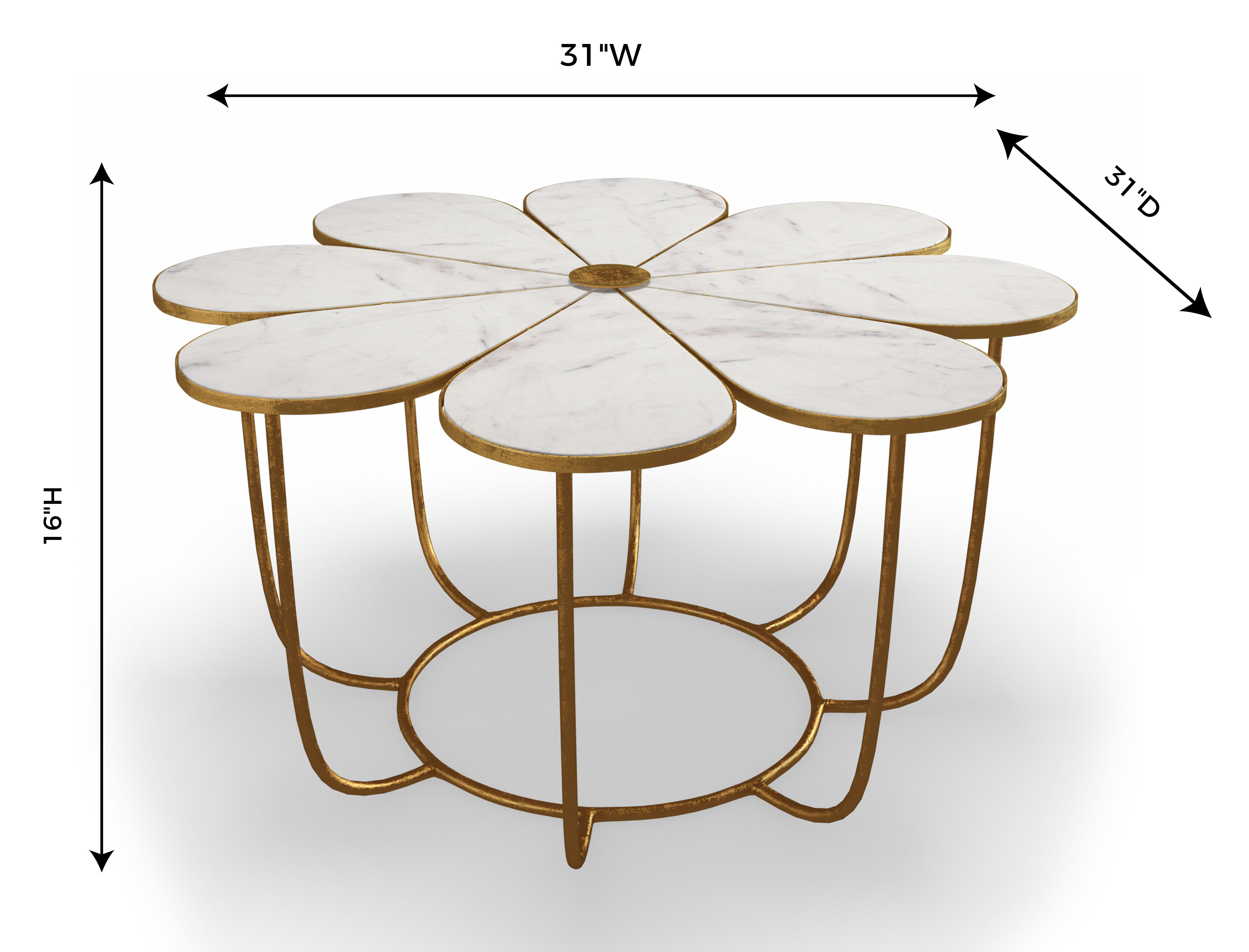 Flower Marble Cocktail Table, , hi-res