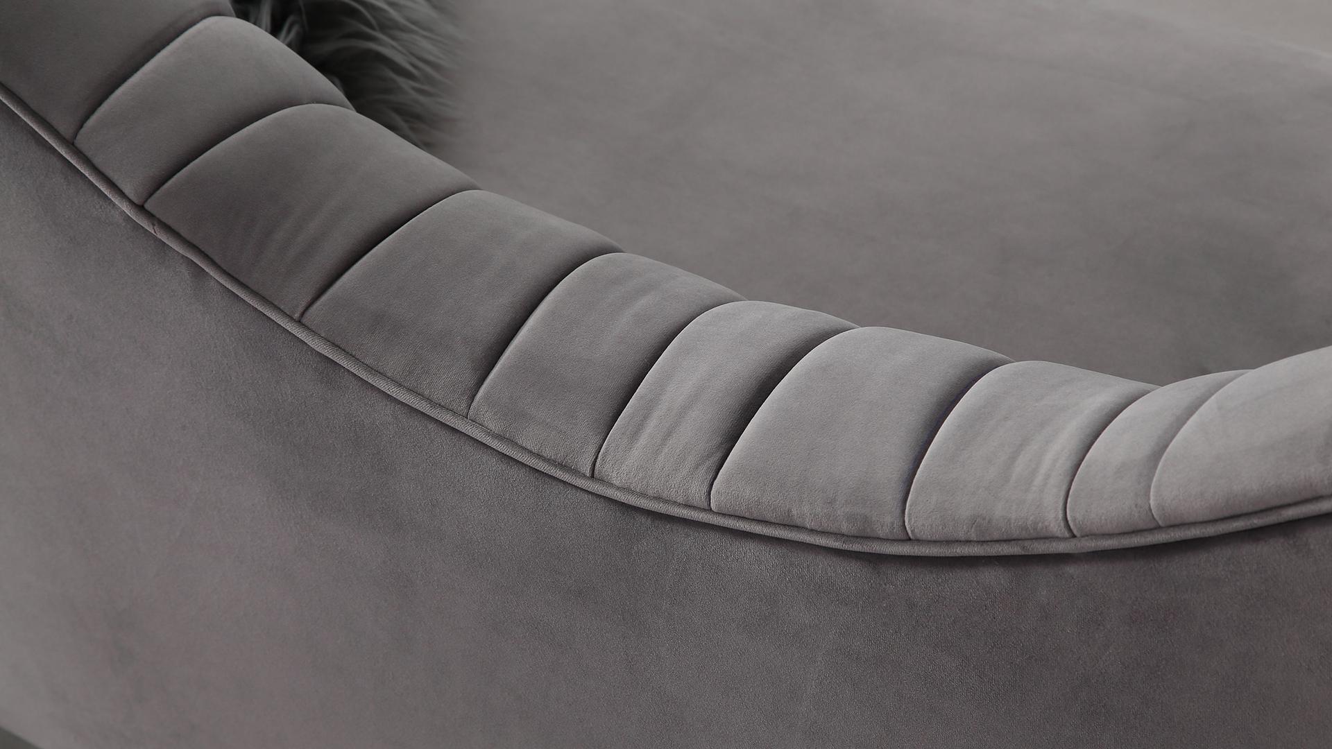 Eva Grey Velvet Sofa, , hi-res