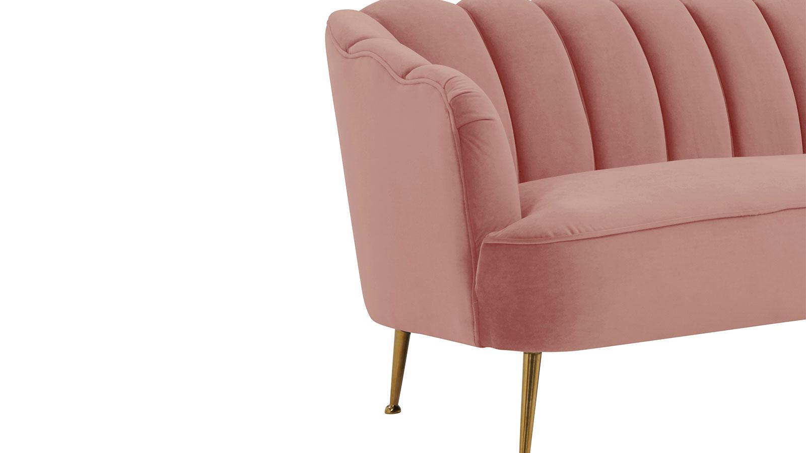 Daisy Petite Blush Velvet Sofa, , hi-res