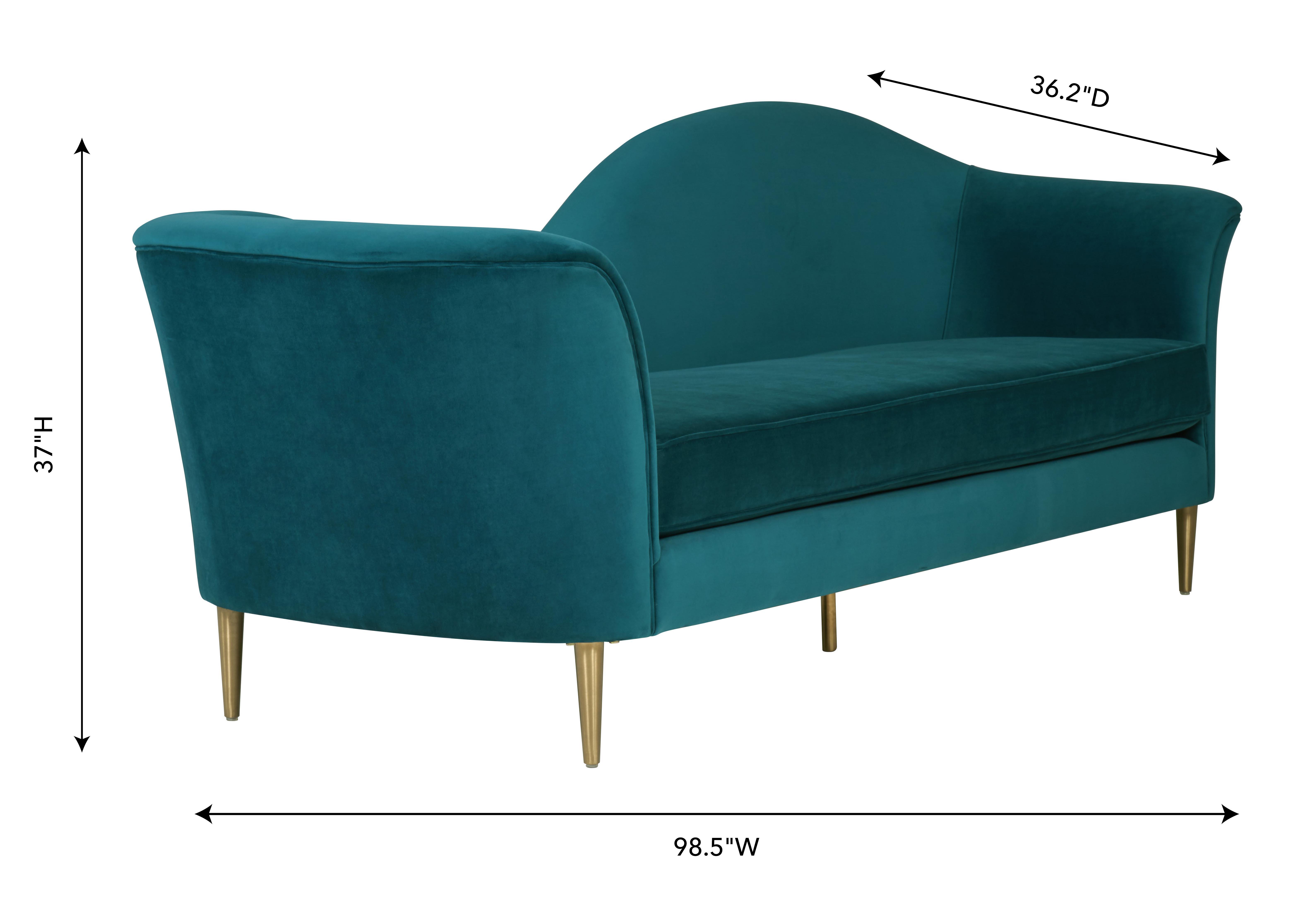 Plato Aqua Velvet Sofa, , hi-res