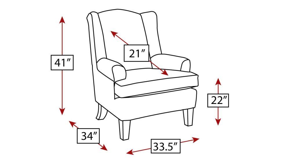 Nantucket Wingback Chair, , hi-res