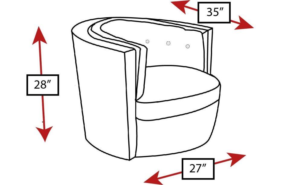 Woofit Swivel Tub Chair, , hi-res