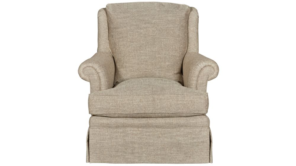 Hobbs Taupe Motion Swivel Chair, , hi-res