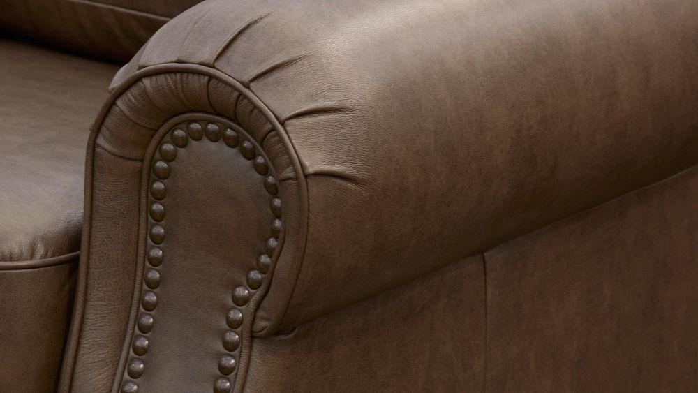 Round Rock Leather Sofa, , hi-res