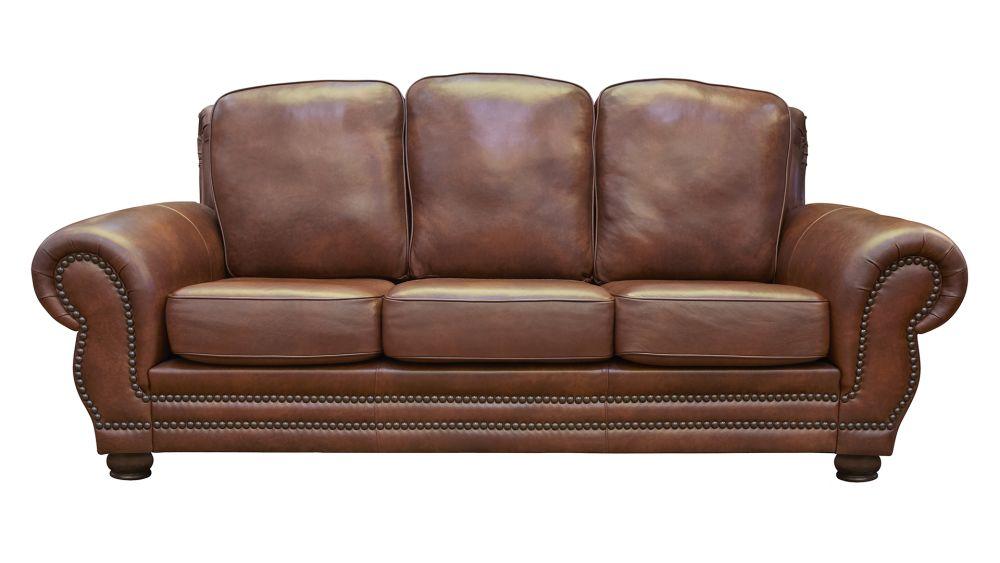 Carnegie Summer Oak Leather Sofa, , hi-res