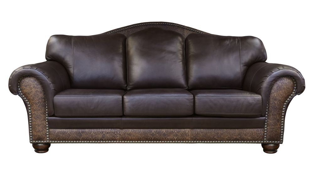 Chaparral Dark Roast Leather Sofa, , hi-res