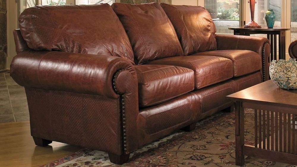 Stickley Santa Fe Serrano Leather Sofa, , hi-res