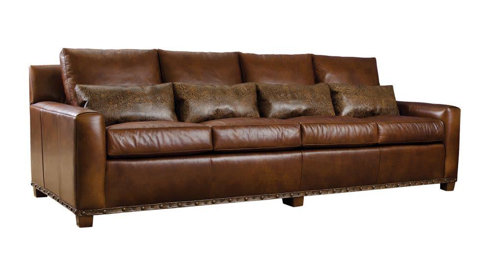 Elegant Stickley Monterey Leather Sofa