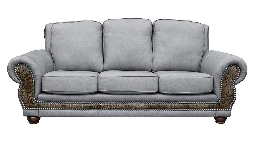 Carnegie Fossil Leather Sofa, , hi-res