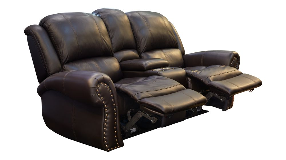 Adam Brown Power Reclining Loveseat with Console, , hi-res