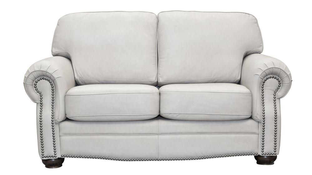Round Rock Pumice Leather Loveseat, , hi-res