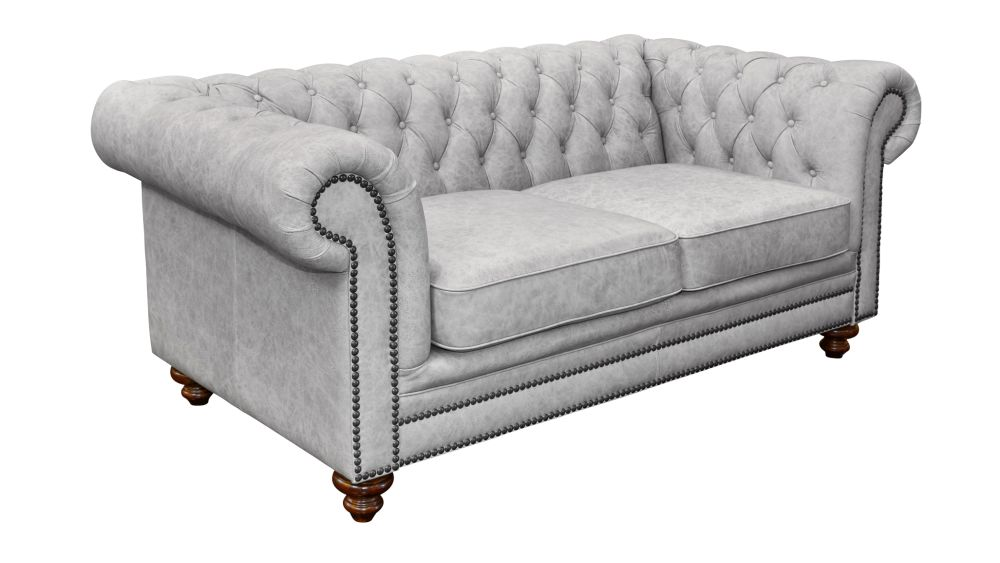 Colchester Dove Leather Loveseat, , hi-res