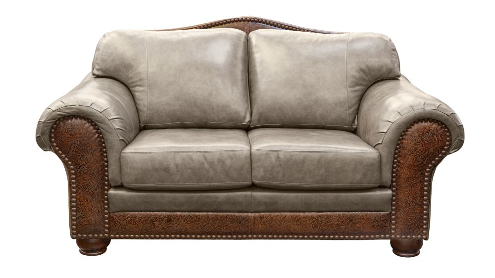 High Plains Chaparral Leather Loveseat, , hi-res