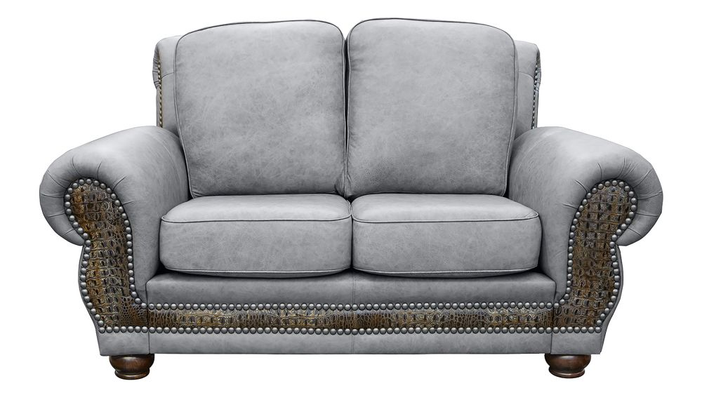 Carnegie Fossil Leather Love Seat, , hi-res