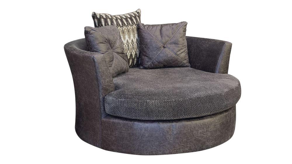 Wesley Smoke Barrel Chair, , hi-res