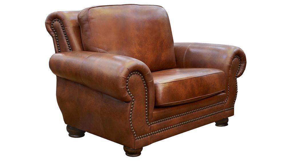 Carnegie Summer Oak Leather Chair, , hi-res