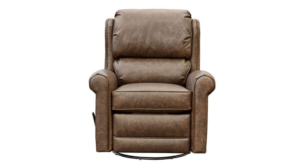 Bear Creek Leather Swivel Glider Recliner, , hi-res