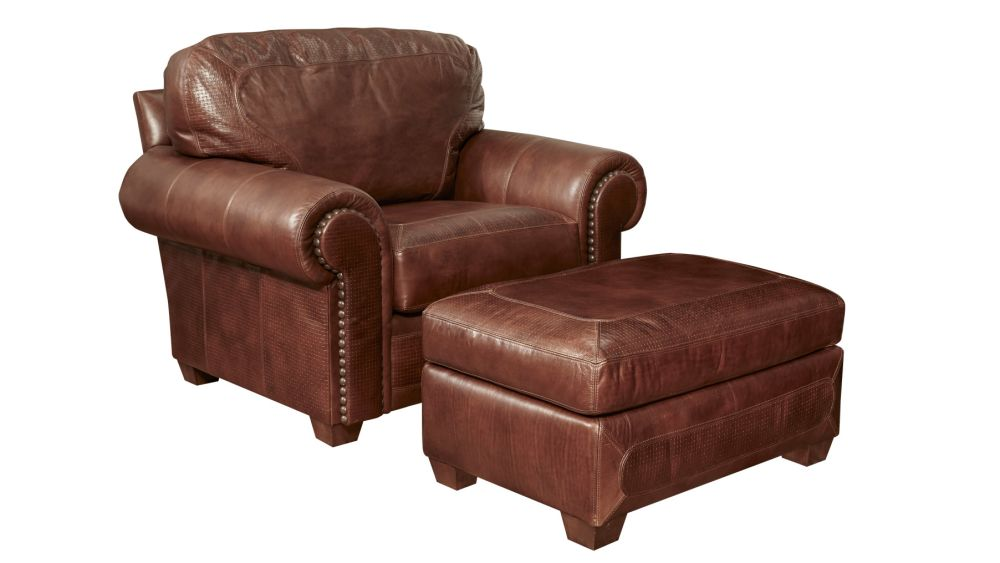 Stickley Stetson Santa Fe Chair and Ottoman, , hi-res