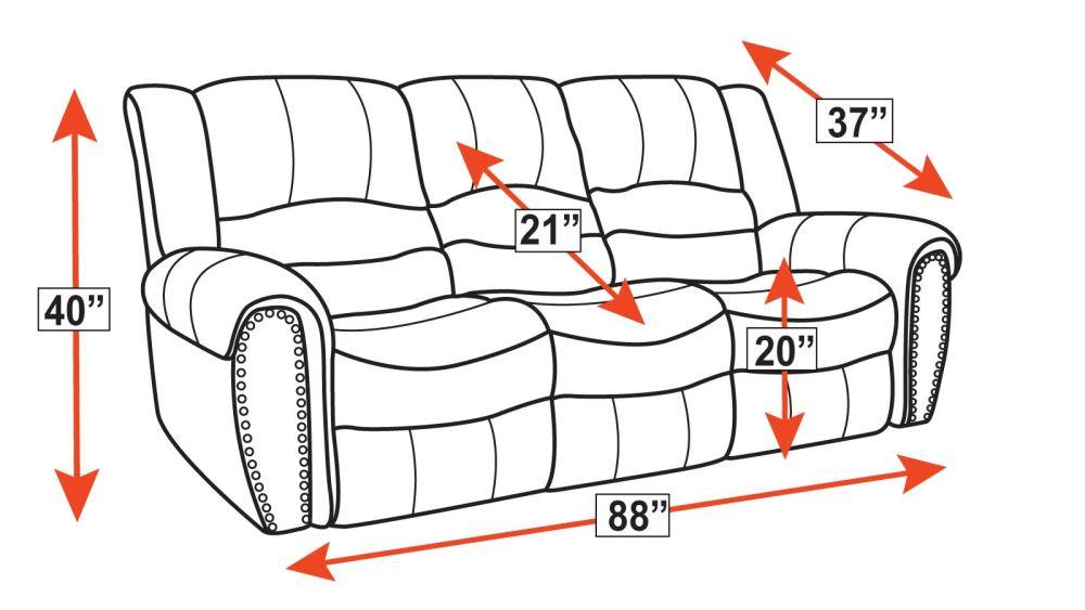 Sanderson Microfiber Power Reclining Sofa, , hi-res