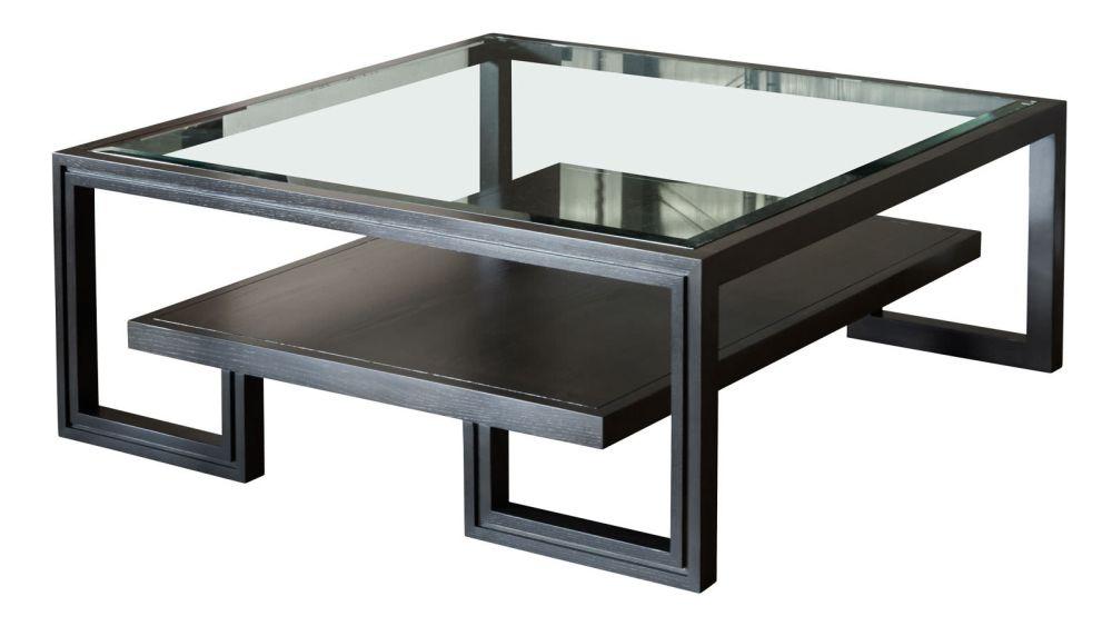 Presidio Dark Grey Cocktail Table w/Glass Top, , hi-res