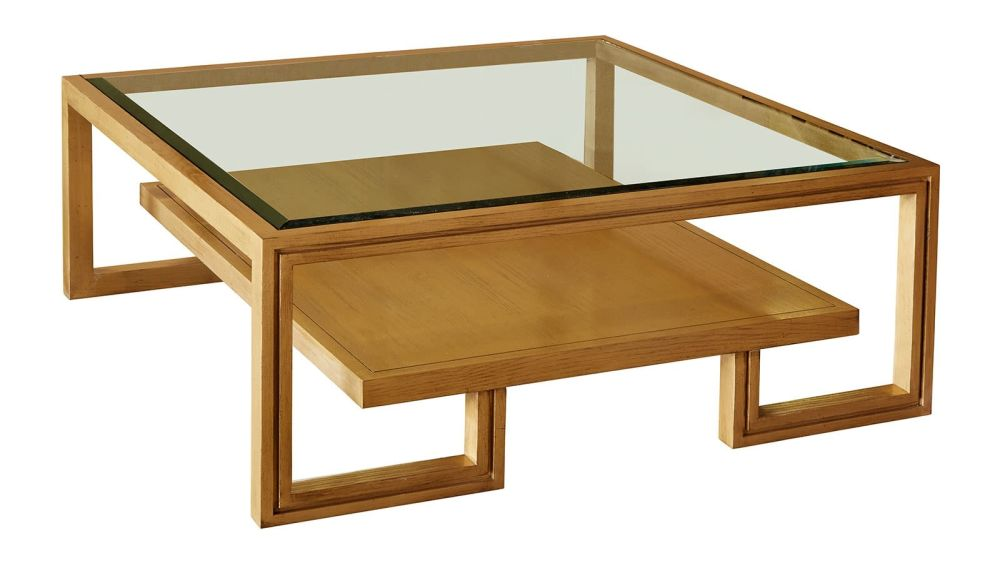 Presidio Gold Cocktail Table w/Glass Top, , hi-res