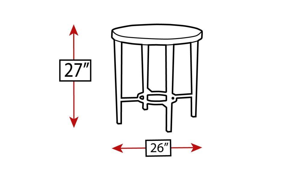 Baldwin Round Lamp Table, , hi-res