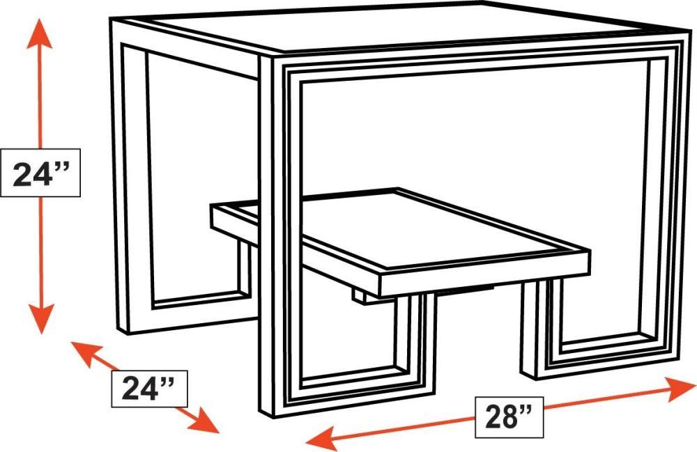 Presidio Malabar End Table w/Glass Top, , hi-res