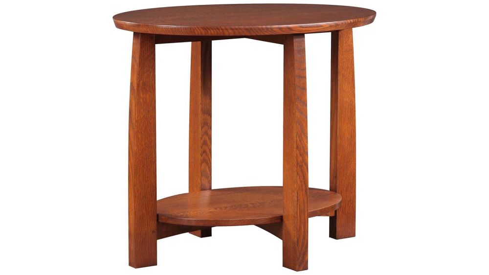 Stickley Highlands Oval End Table, , hi-res