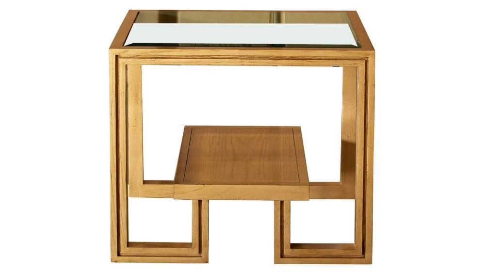 Presidio Gold End Table w/Glass Top, , hi-res