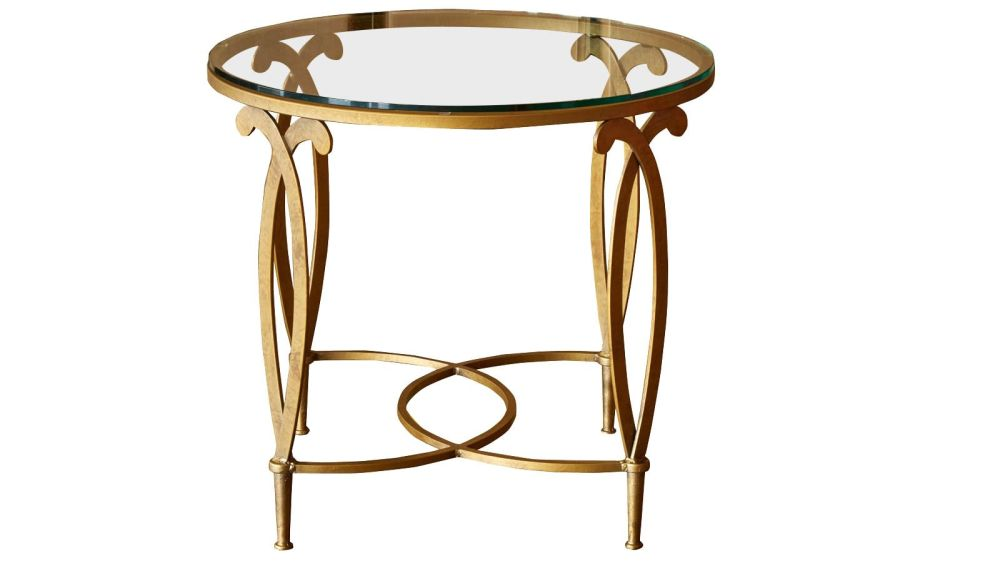 Grand Saline Gold End Table w/Glass Top, , hi-res