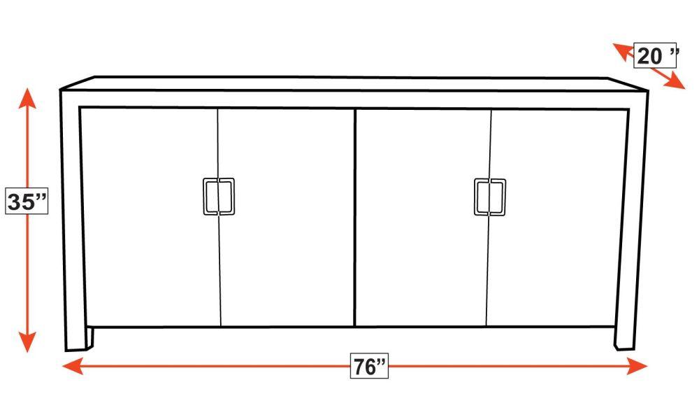 Bannon Beach Stone 4 Door Cabinet, , hi-res