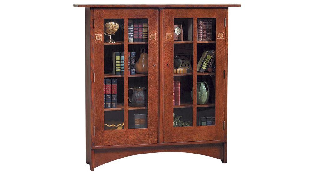 Stickley Harvey Ellis Bookcase With Inlay, , hi-res