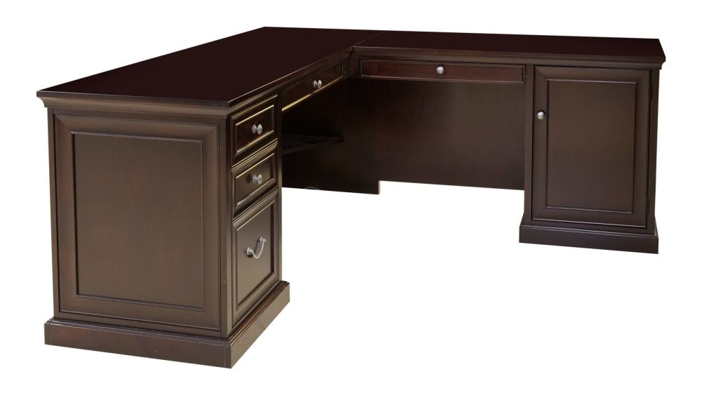 Fulton Merlot L-Shaped Desk, , hi-res