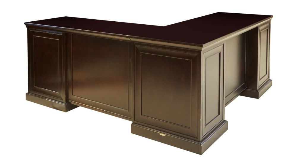 Fulton Merlot L-Shaped Desk, , hi-res