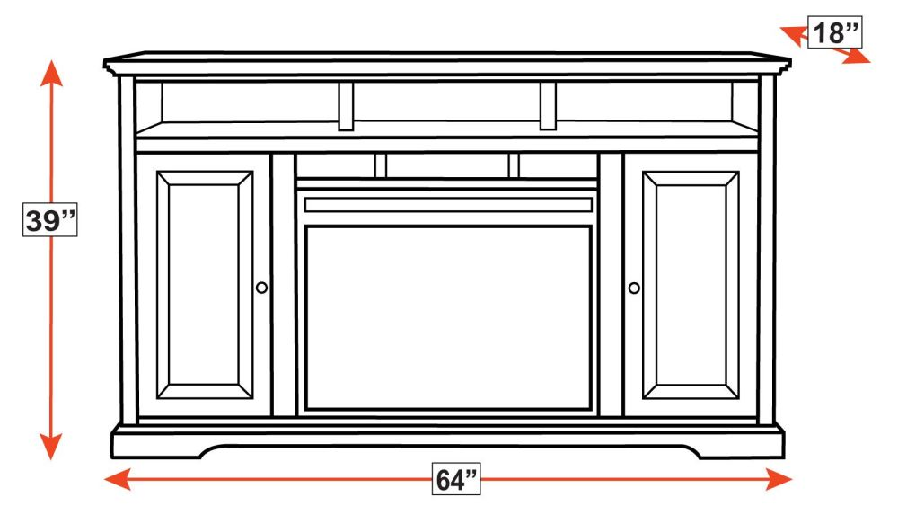 Greenway Console with Fireplace, , hi-res