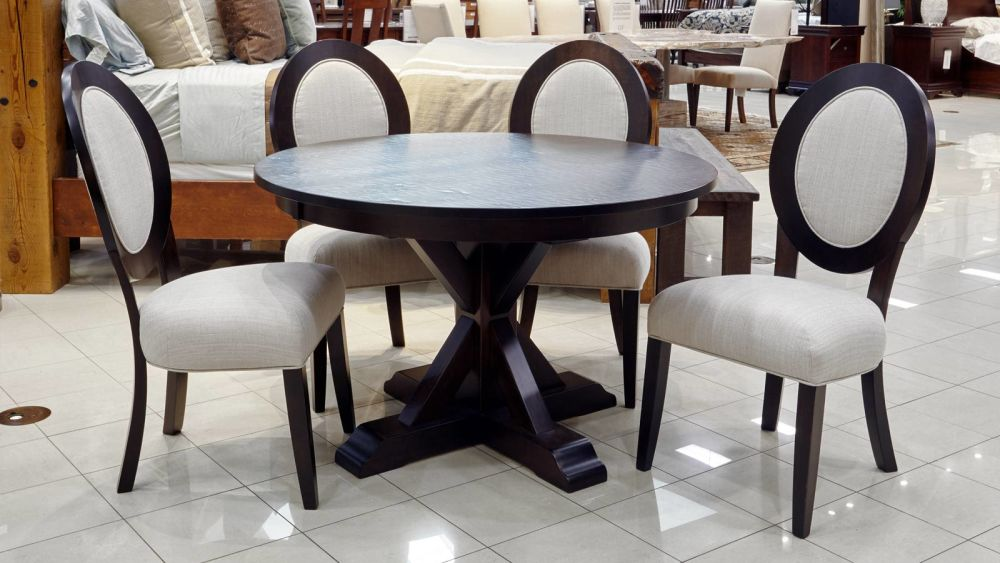 Alberta Round Table with Roanoke Side Chairs, , small