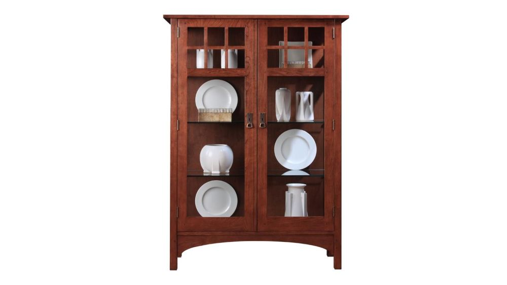 Stickley 2017 Collector's Edition Cabinet With Glass Panel Front & Sides, , hi-res