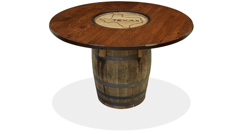 Texas 54 Whiskey Barrel Table