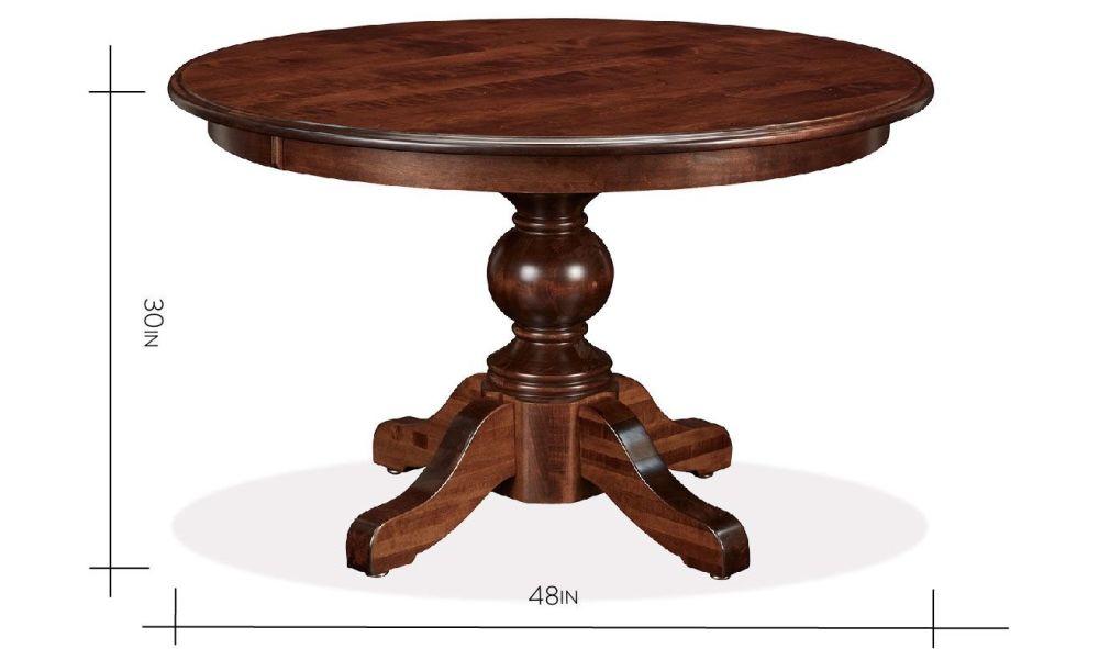 baytown 48 round table. Black Bedroom Furniture Sets. Home Design Ideas